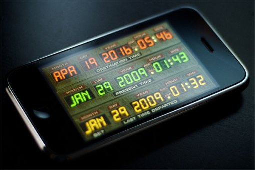 DeLorean iPhone Time Machine App